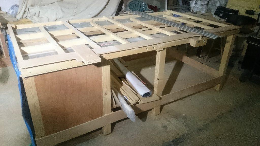 table de sciage bois
