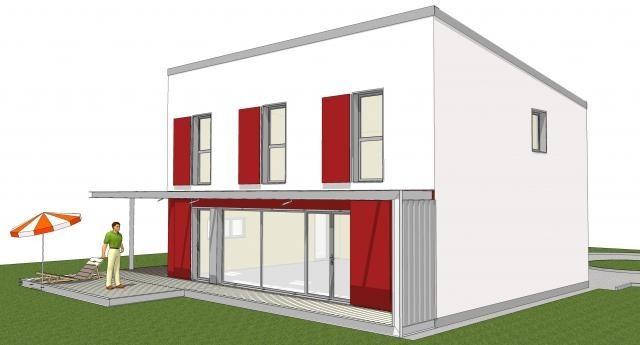 maison en bois moderne prix