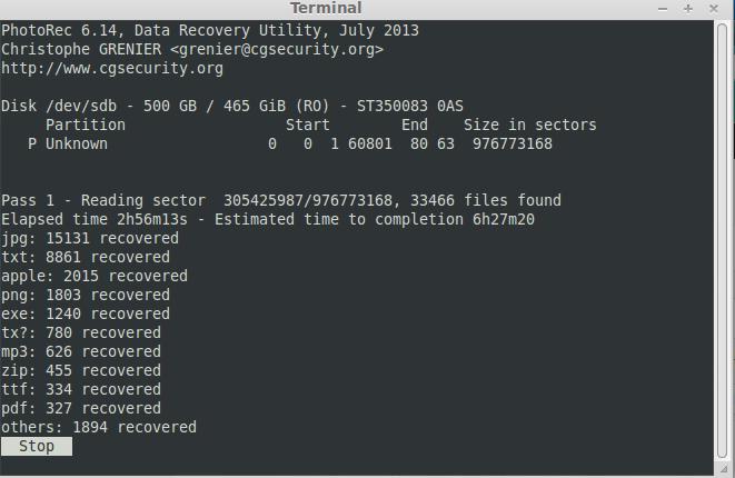 récupération données effacées