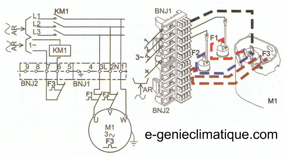 demarrage moteur electrique condensateur