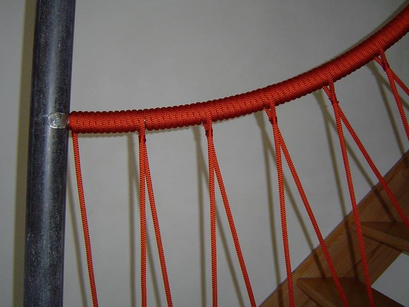 rambarde d'escalier en corde